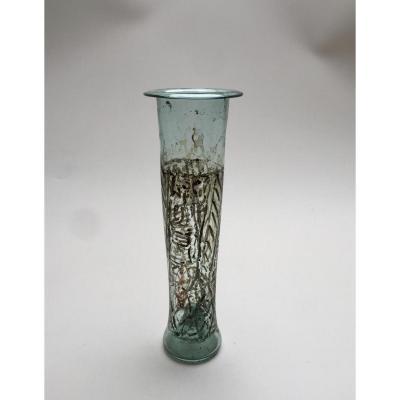 Lampe à huile perse - Verre soufflé émaillé début XVIIIème - Art Islamique