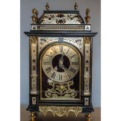 Pendule Dite Religieuse époque Napoléon III En Marqueterie Boulle