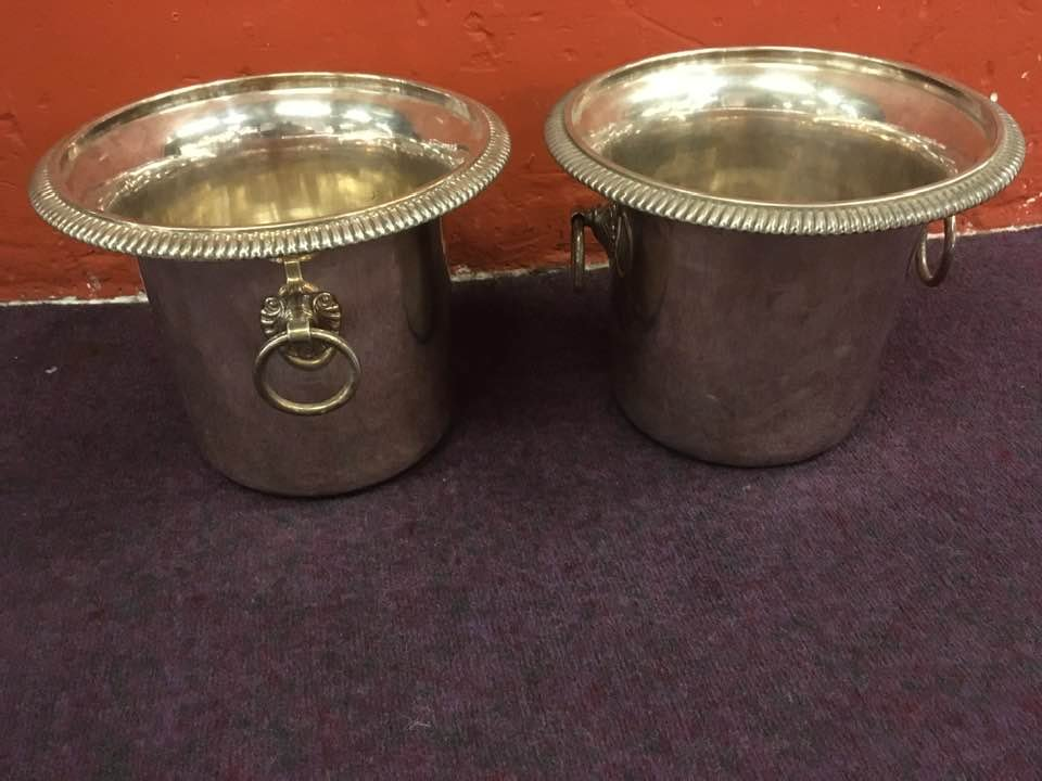 Pair Of Refreshing Silver Metal Late 19th