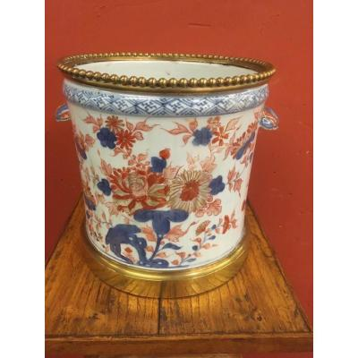 Cache Pot Imari And Gilt Bronze
