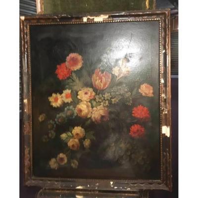 Bouquet De Fleurs Fin 19 Eme