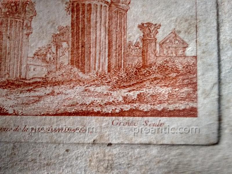 Suites Of Two Engravings Etching At The Sanguine Ancient Ruins Crepy In Paris Eighteenth Century 1-photo-5