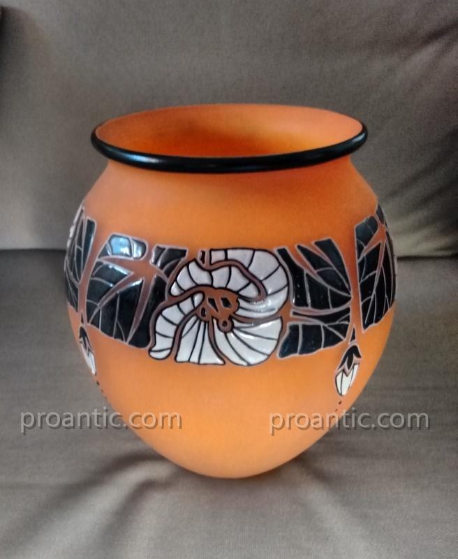 André Delatte (1887-1953) Art Deco Vase Around 1925