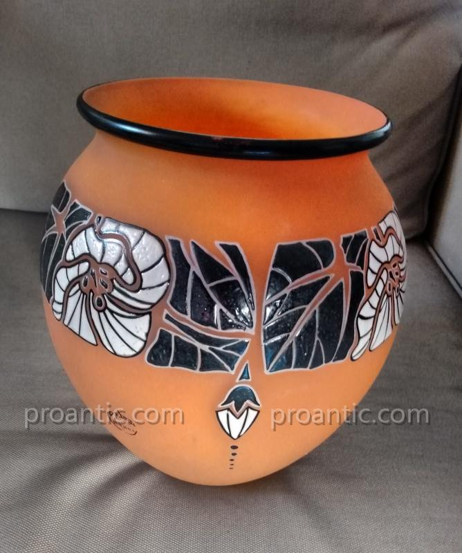 André Delatte (1887-1953) Art Deco Vase Around 1925-photo-2