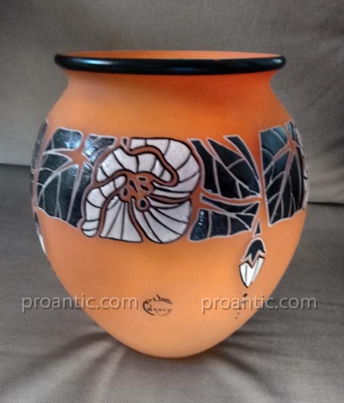 André Delatte (1887-1953) Art Deco Vase Around 1925-photo-3