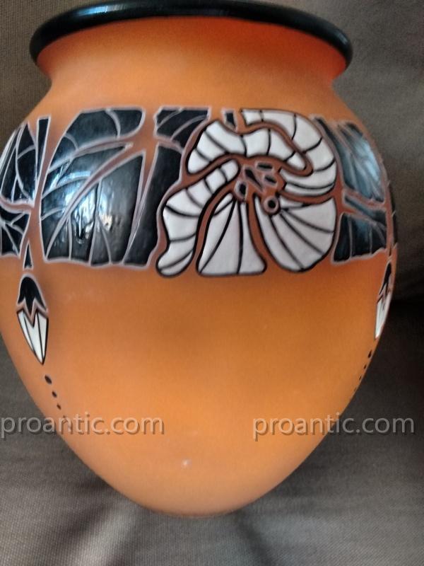 André Delatte (1887-1953) Art Deco Vase Around 1925-photo-1