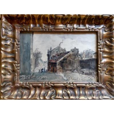 Frank Myers Boggs (1855-1926) Paris Montmartre la maison de Mimi Pinson