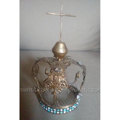 Ancienne Couronne De Vierge De Procession Croix