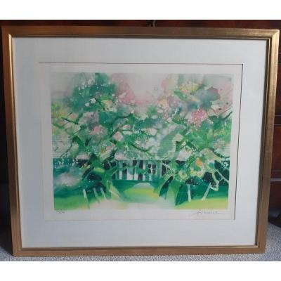 Camille Hilaire Original Lithograph Titled
