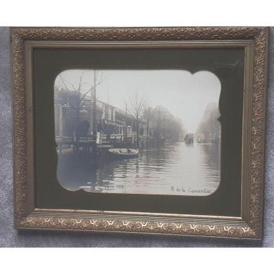 Photo Ancienne La Crue De La Seine à Paris En 1910