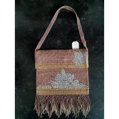 Crosshair Bag In Pearls Art Deco Period Circa 1925