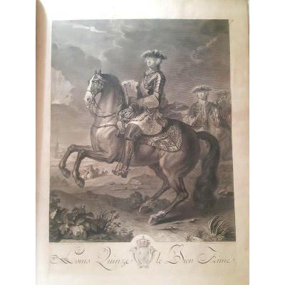 Jean-martin Weis (1711-1751) Représentations Des Fêtes Données Par La Ville De Strasbourg Aux  armes dorées fleurdelisées de Louis XV gravures   1744