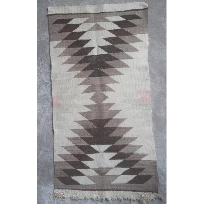 Joli Petit Tapis Des Indiens Navajos Amérique Dessin Géométrique Vers 1920