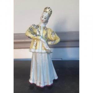 Danseuse Russe Statuette Figurine En Porcelaine