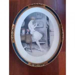 Georges Grellet (1869-1959) Jeunes élégantes Deux Gravures Eaux- Fortes Gravure Art Déco Années 1920  dlg de Louis Icart Jean Hardy