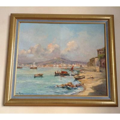 Bay Of Naples By Charles Blondin