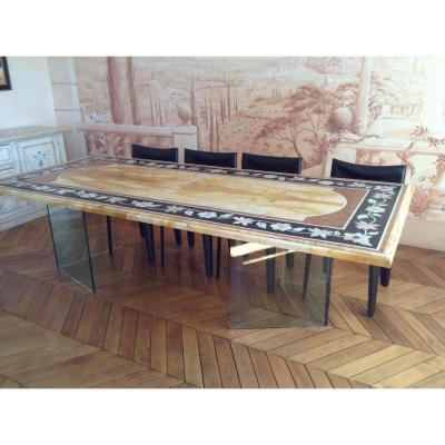 Marble Marquetry Table