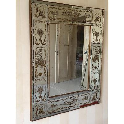 Miroir à Parcloses, Verre Eglomisé