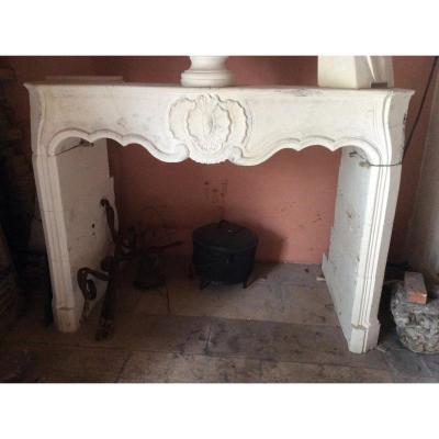 Very Beautiful Louis V Fireplace In Pierre De Crazanne