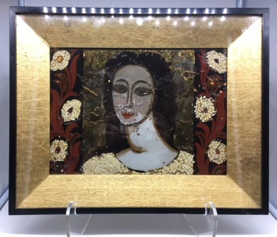 Femme aux fleurs de René BUTHAUD