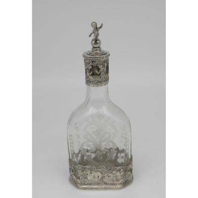 Crystal Bottle Silver Mount