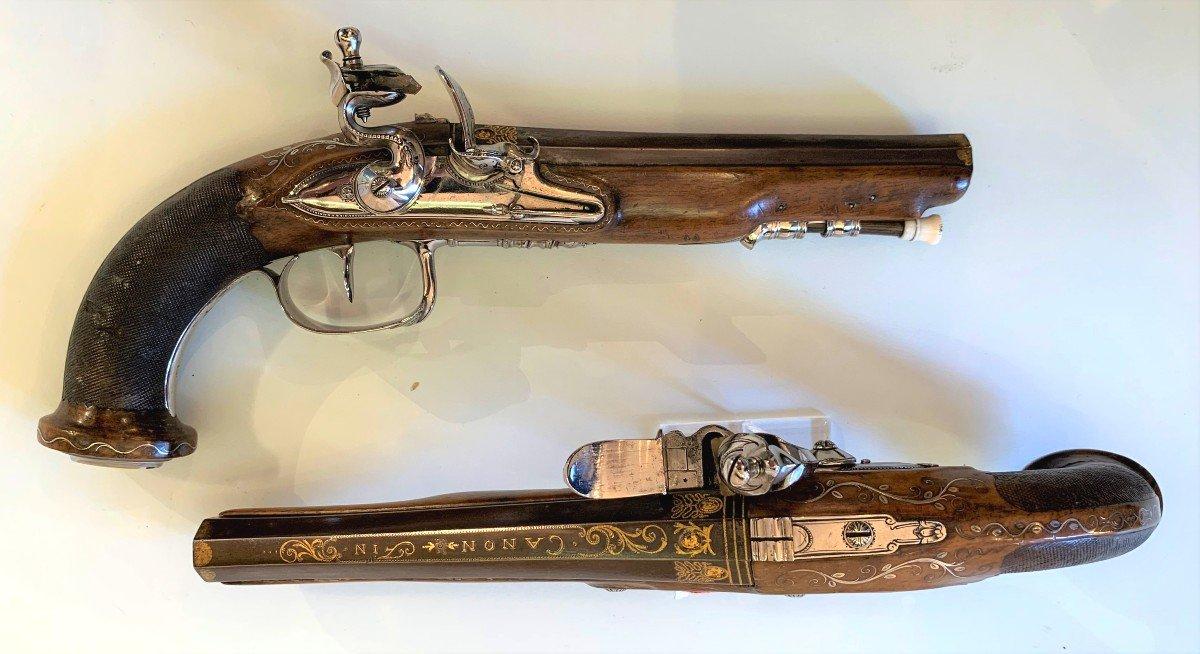 Paire De Pistolet d'Officier Empire