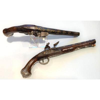 Paire De Pistolets De Cassaignard