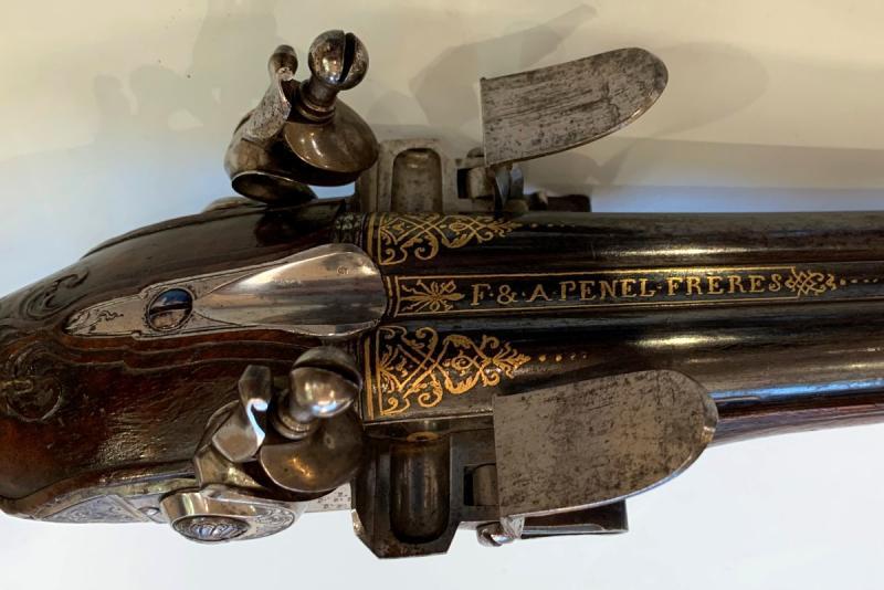 Paire De Pistolets XVIIIème Par Penel-photo-3