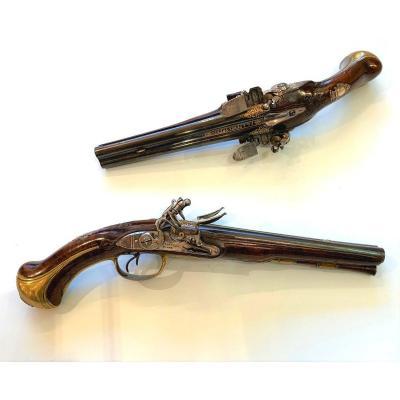 Paire De Pistolets XVIIIème Par Penel