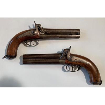 Pistolets d'Officier d'Etat Major Mle 1855