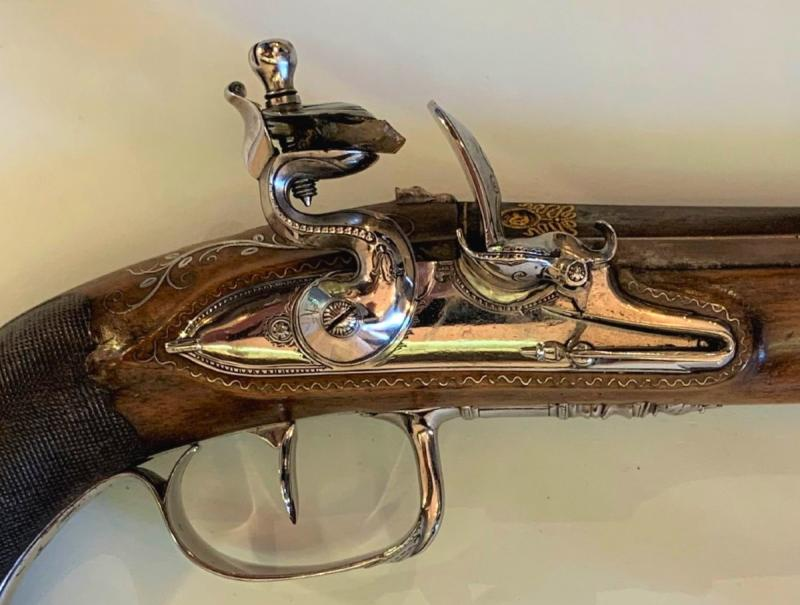 Paire De Pistolet d'Officier Empire-photo-2