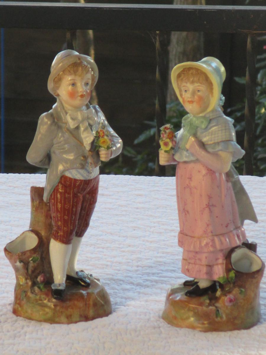 """Paire De Bouquetières """" Enfants"""""""