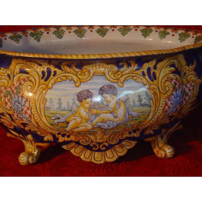 Faience Jardiniere From Nevers