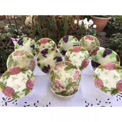 Assiettes à Dessert Fruits Ou Fleurs