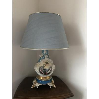 Porcelain Lamp Blue Shade