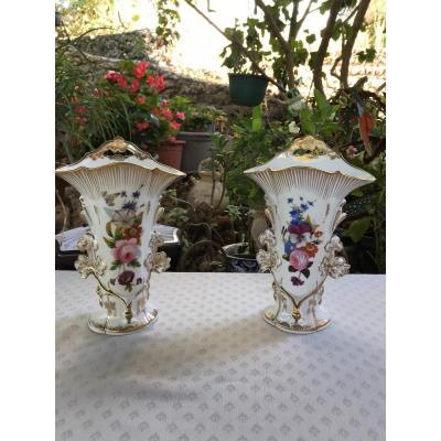 Vases En Porcelaine De Paris