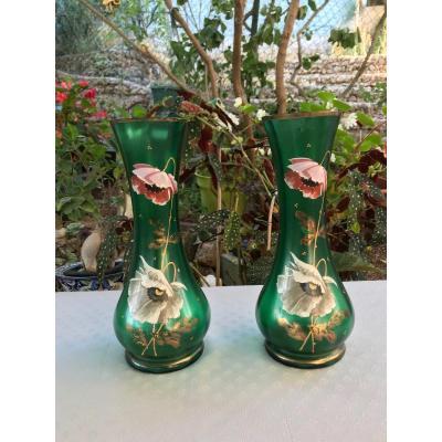 Paire De Vases émaillés