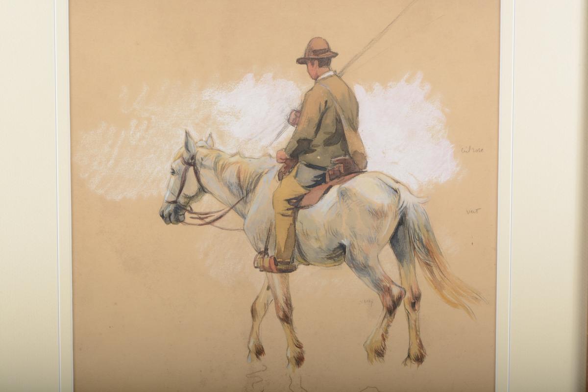 Cavalier Camarguais - Edouard DOIGNEAU 1865 -1954
