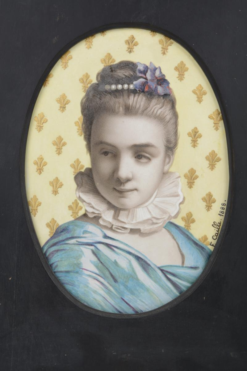 Demoiselle Aux Pervenches - Fanny Caille 1847-1893