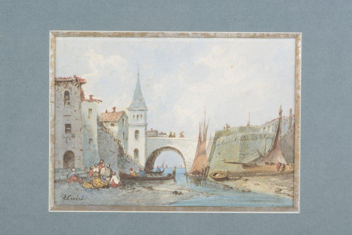 Pont aux barques - Eugène CICERI 1813-1890