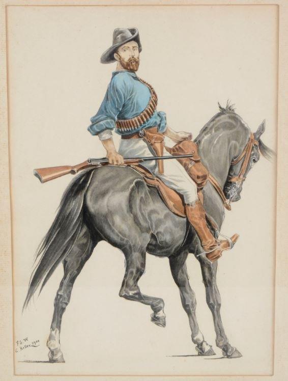 Mounted Kiwi Riffleman - E. Keller Début XXème Siècle