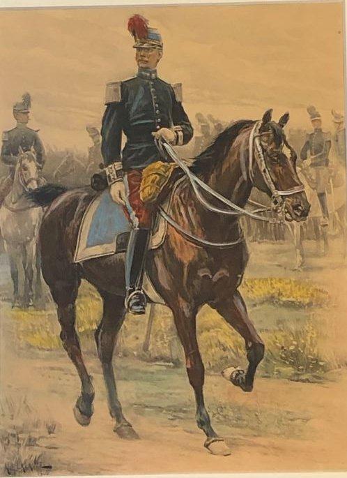 Capitaine De Cavalerie - A Lalauze 1872-1936 - Lithographie