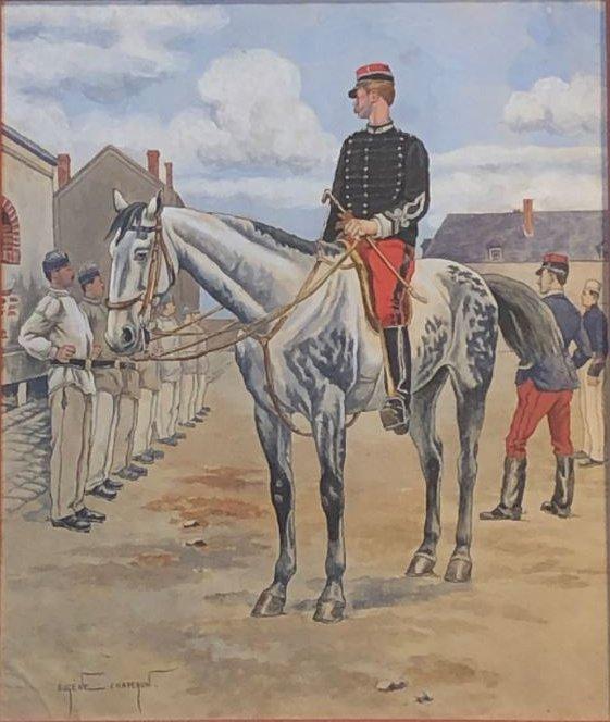 Les Assouplissements -lithographie  Eugene Chaperon 1857-1938 -photo-2