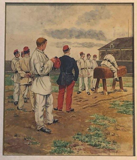 Le Cheval De Bois - Lithograph - Eugène Chaperon 1857-1938-photo-2