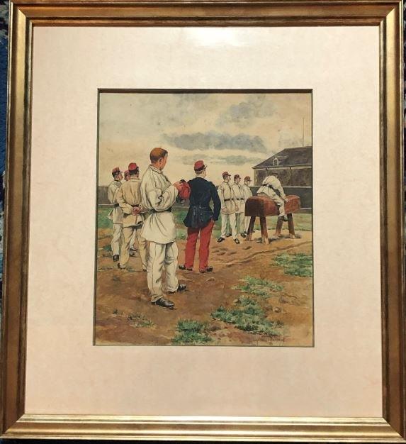 Le Cheval De Bois - Lithograph - Eugène Chaperon 1857-1938