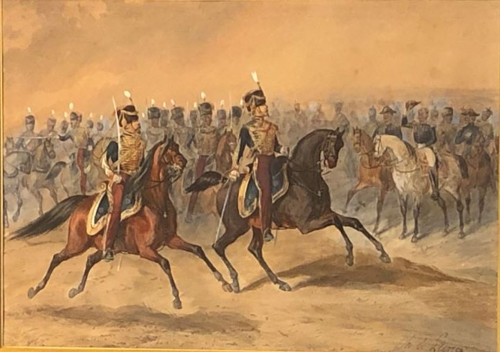 La Revue, Watercolor - Charles De Luna 1812- After 1866-photo-3