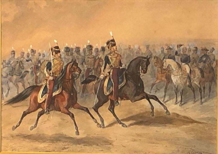 La Revue, Watercolor - Charles De Luna 1812- After 1866