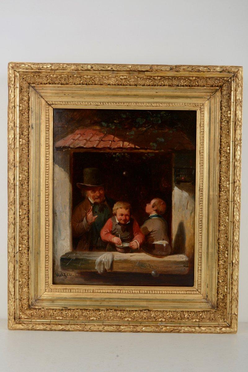 Bulles de savon - Franciscus MELZER (Anvers 1808-1865)