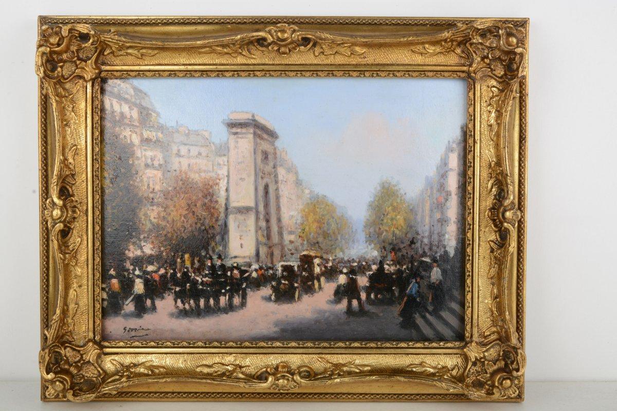 Paris, Effet d'Automne à La Porte Saint Martin - Gaspar Miro I Lleo 1859-1930