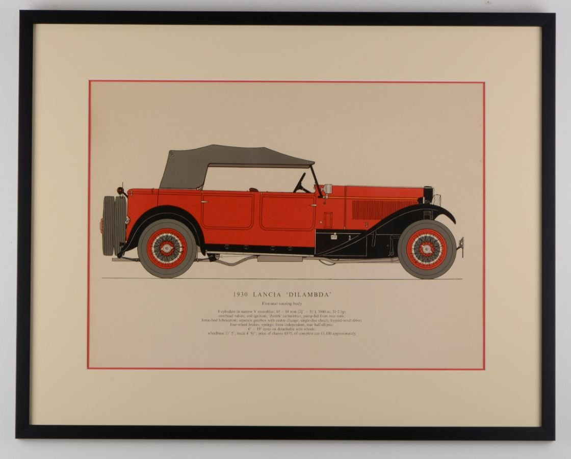 Lancia Dilambda - 1930 - Lithographie
